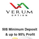Verum Option Review – 50$ Binary Options Low Minimum Deposit